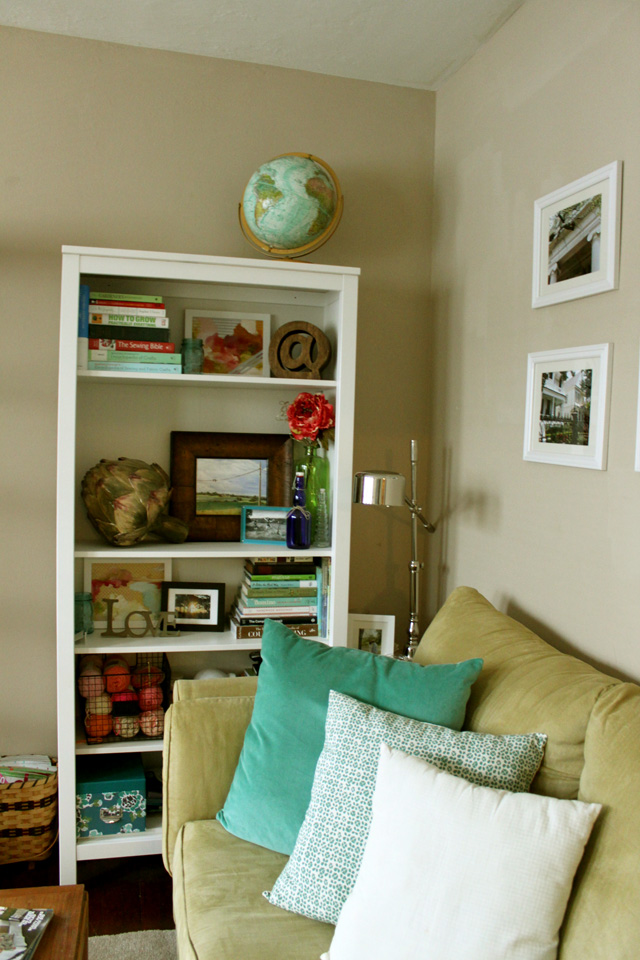couch pillows bookcase brighter 1