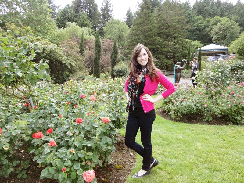 cait in the rose garden1