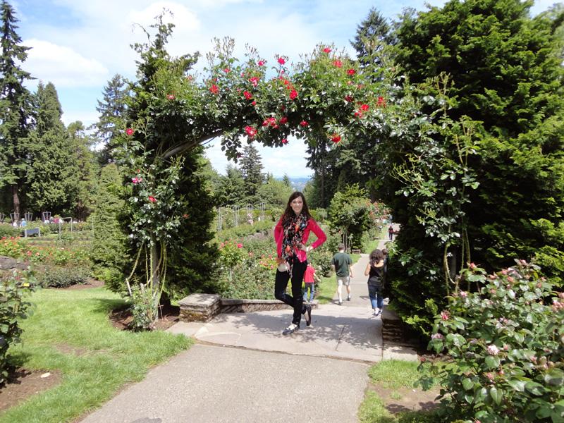 cait under rose arbor1