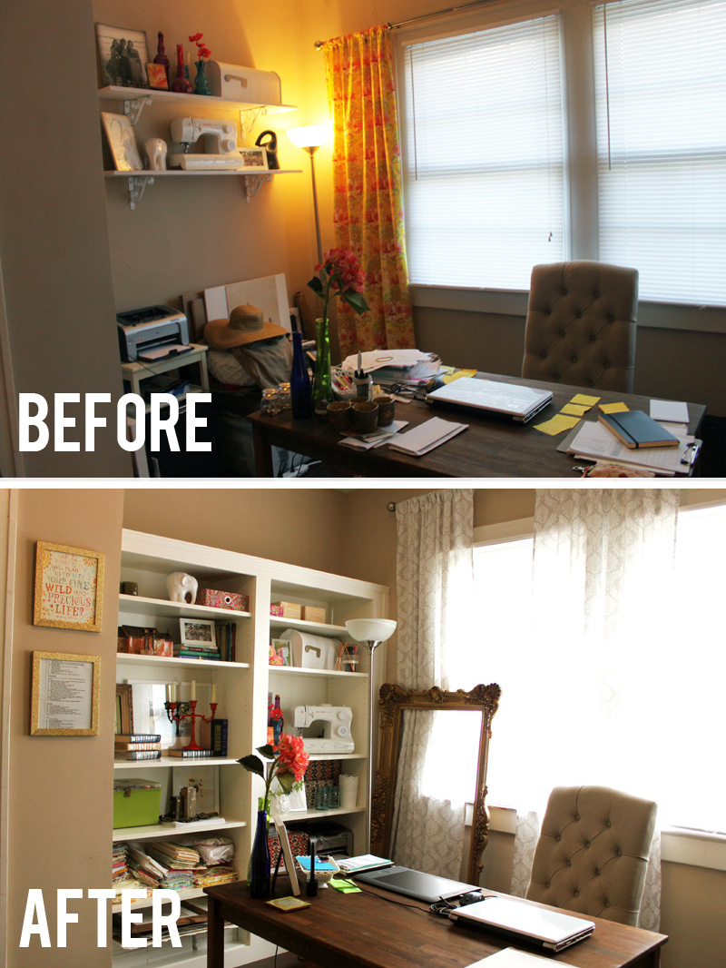 before after bookshelf side