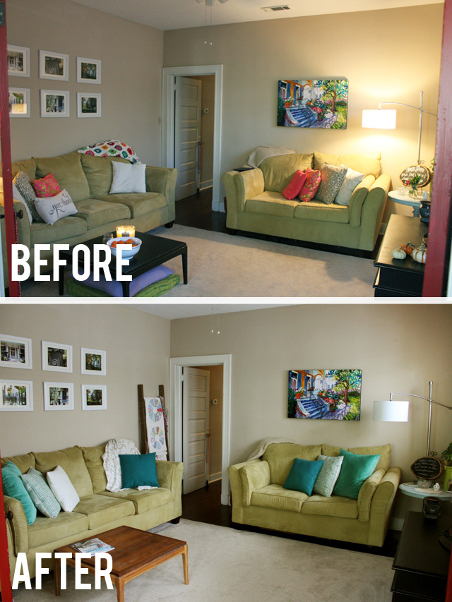 before after living room wide