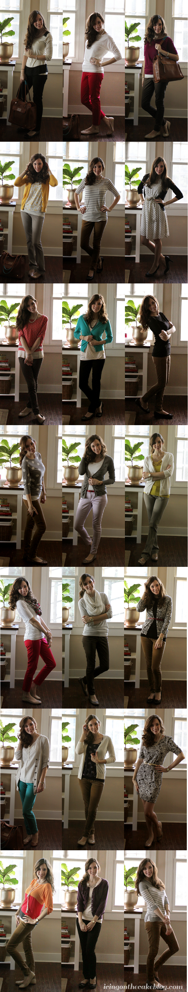 business casual outfits with watermark