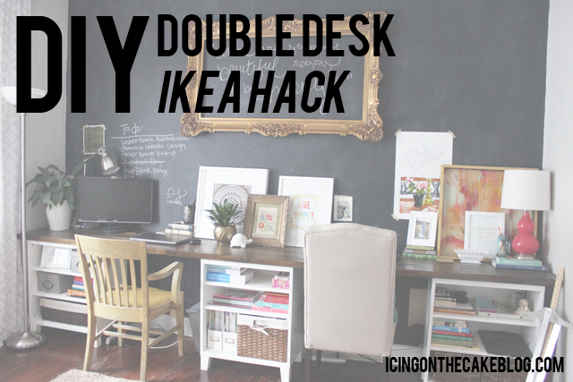 DIY double desk ikea hack1