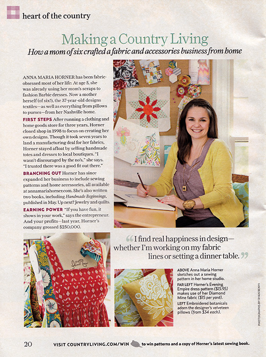 AMH Country Living article - JulyAug2010 - smaller for blog