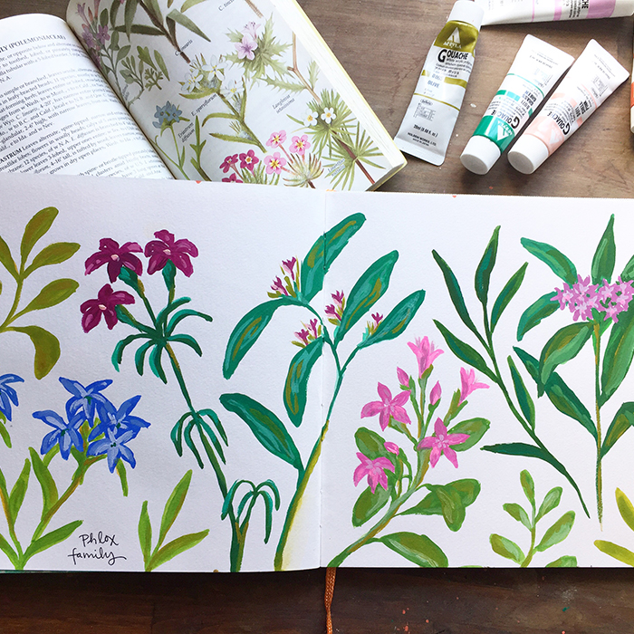 Hand Painted Ideas In My Sketchbook Often Become The Basis For Finished Surface Pattern Designs And Collections